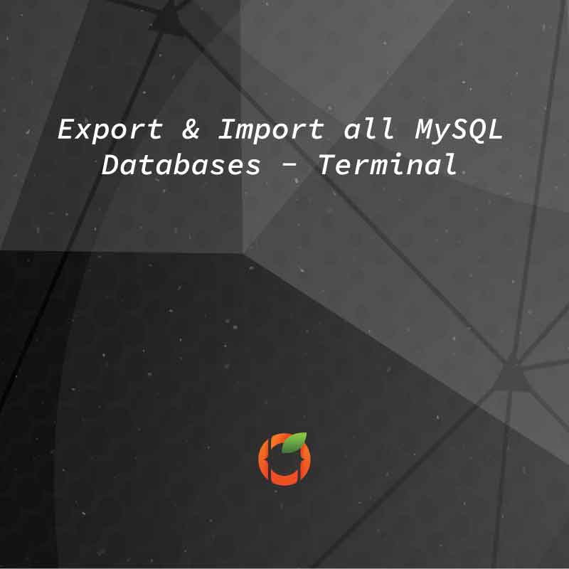 import export mysql databases